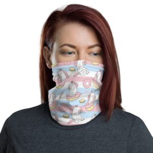 Pink And Blue Unicorn Branded Neck Gaiter