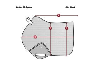 Horse Cleaning ProSport Close Contact Saddle Pad Size