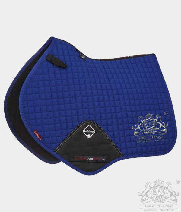 Horse Cleaning ProSport Close Contact Saddle Pad Benetton Blue And White Logo