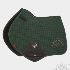 Horse Cleaning ProSport Close Contact Saddle Pad Green And Gold Logo