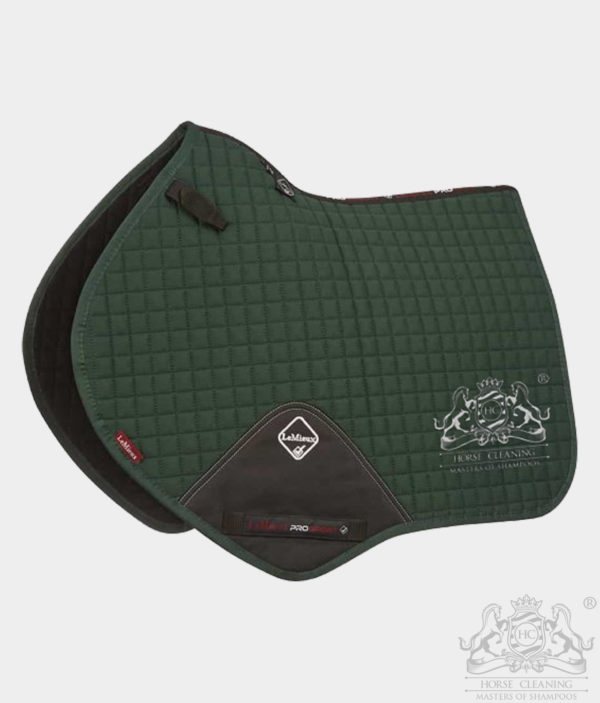 Horse Cleaning ProSport Close Contact Saddle Pad Green And White Logo
