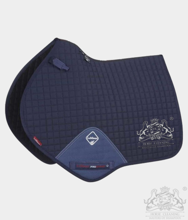 Horse Cleaning ProSport Close Contact Saddle Pad Navy And White Logo