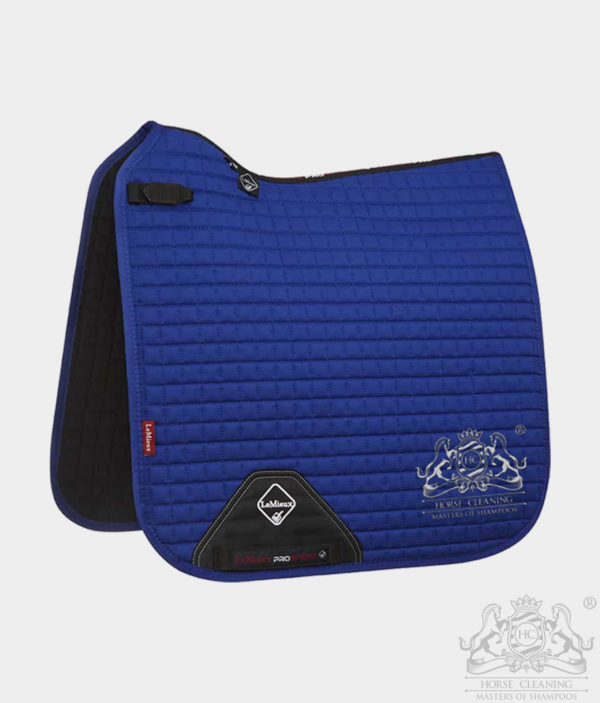 Horse Cleaning ProSport Cotton Dressage Square Saddle Pad Benetton Blue And White