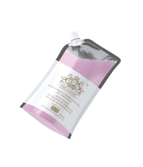 Horse Cleaning Equestrian Cherry Almond Oil Shampoo 100ml Pouch