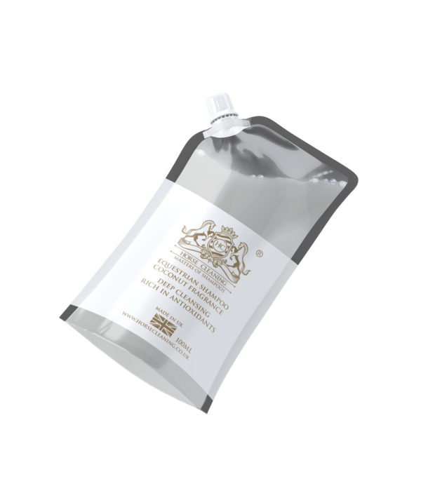 Horse Cleaning Equestrian Coconut Oil Shampoo 100ml Pouch