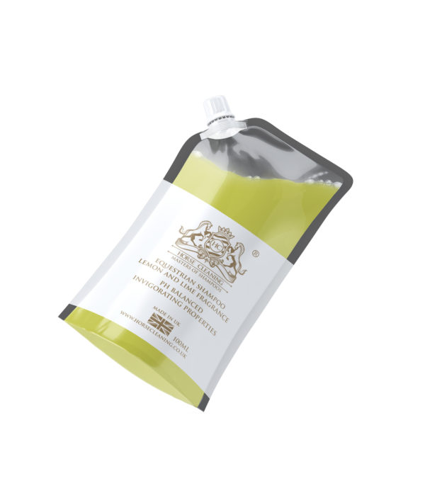 Horse Cleaning Equestrian Lemon And Lime Shampoo 100ml Pouch