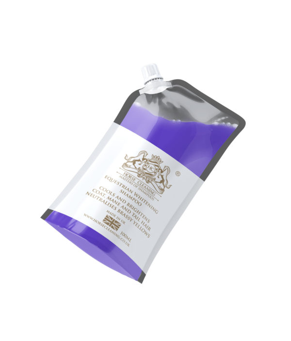 Horse Cleaning Equestrian Whitening Shampoo 100ml Pouch